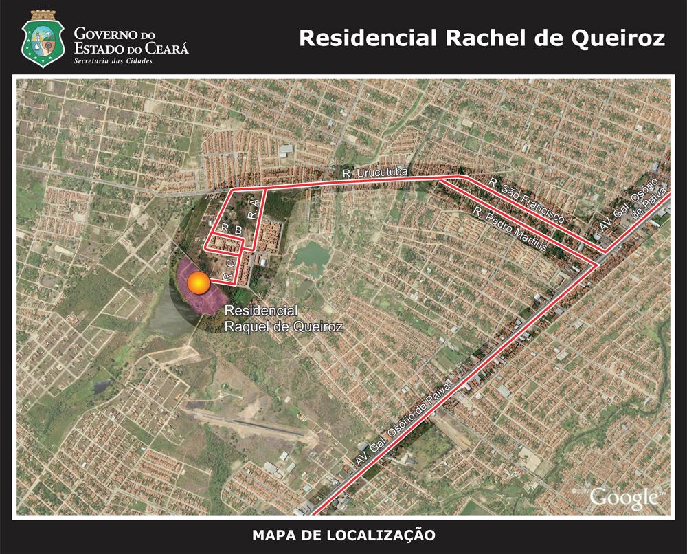 mapa de localização raquel de queiroz