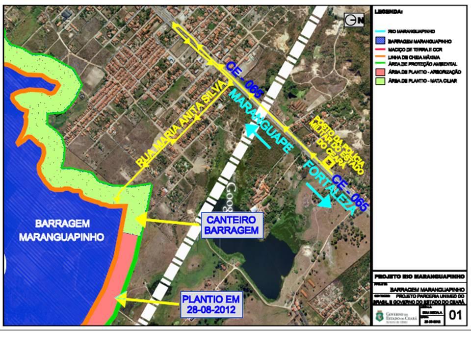 Mapa da Barragem