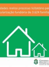 Scidades realiza processo de licitação para regularização fundiária de 3.624 famílias